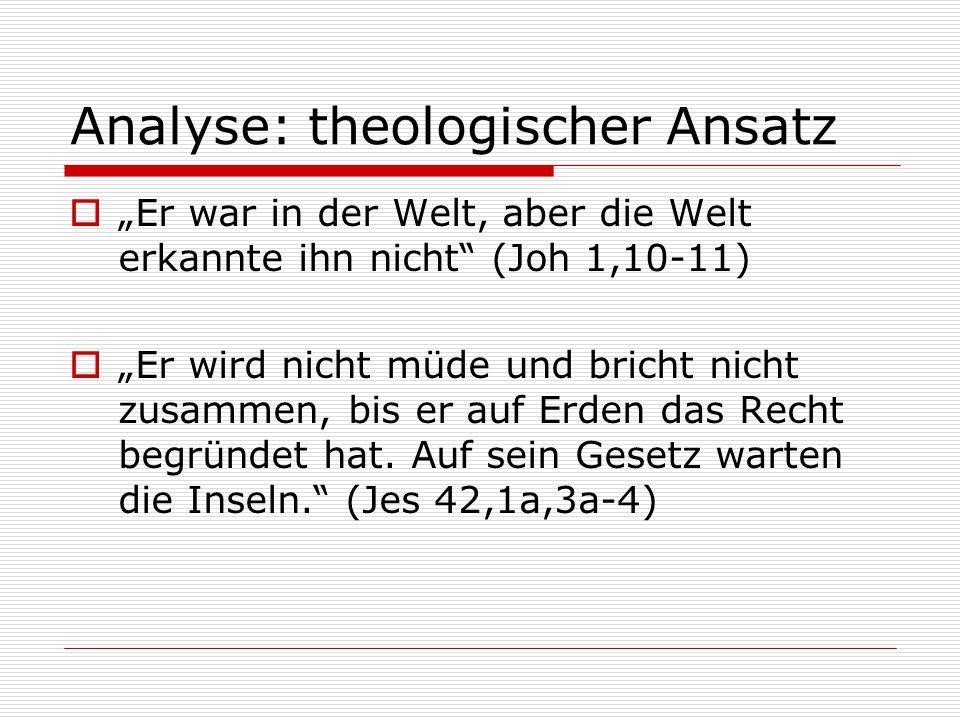 Analyse: theologischer Ansatz