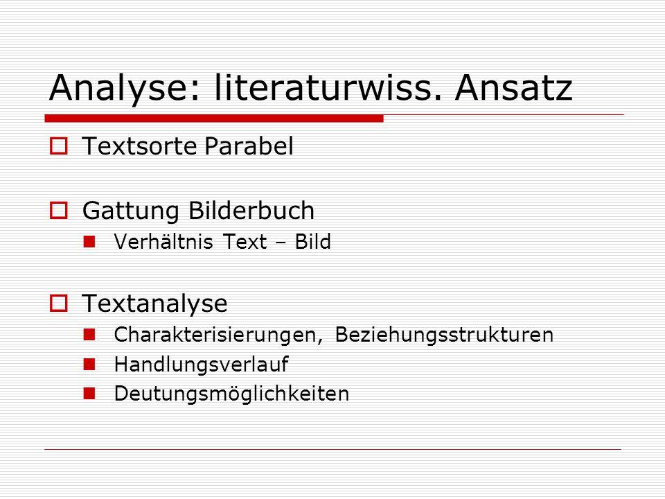 Analyse: literaturwiss. Ansatz