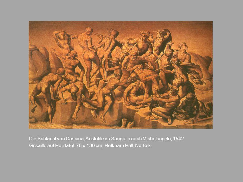 Die Schlacht von Cascina, Aristotile da Sangallo nach Michelangelo, 1542