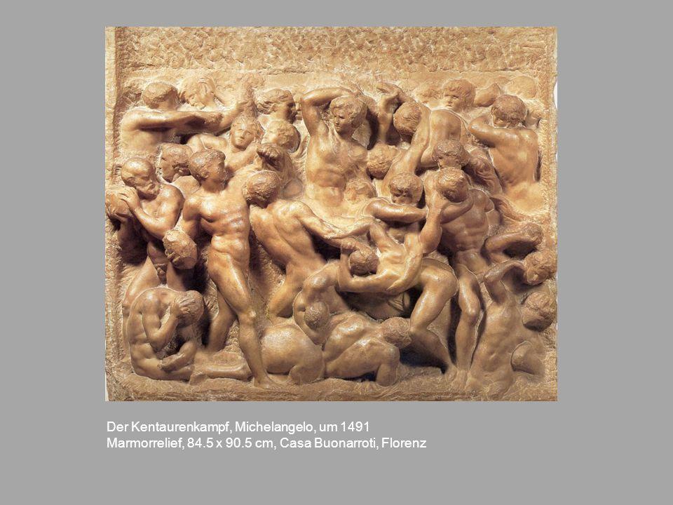 Der Kentaurenkampf, Michelangelo, um 1491