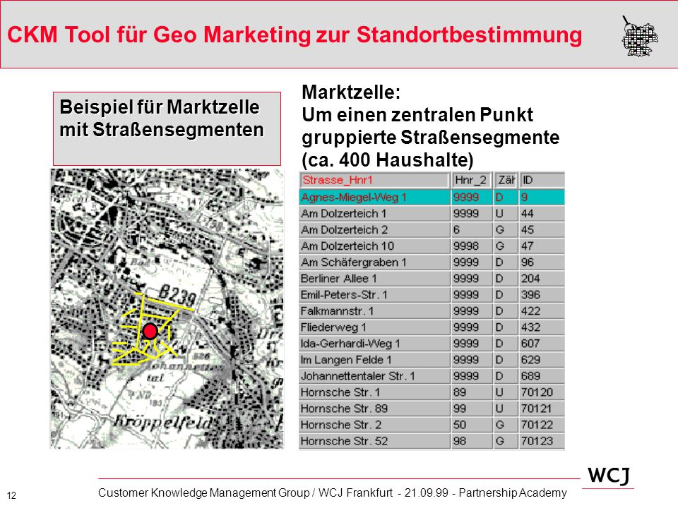 CKM Tool für Geo Marketing zur Standortbestimmung