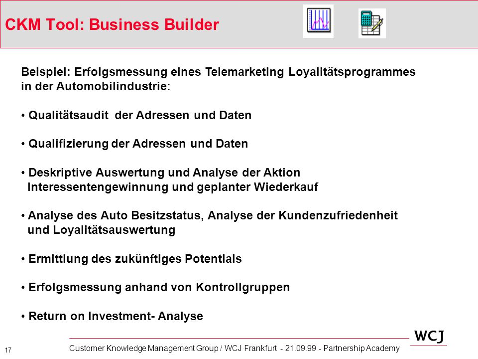 CKM Tool: Business Builder
