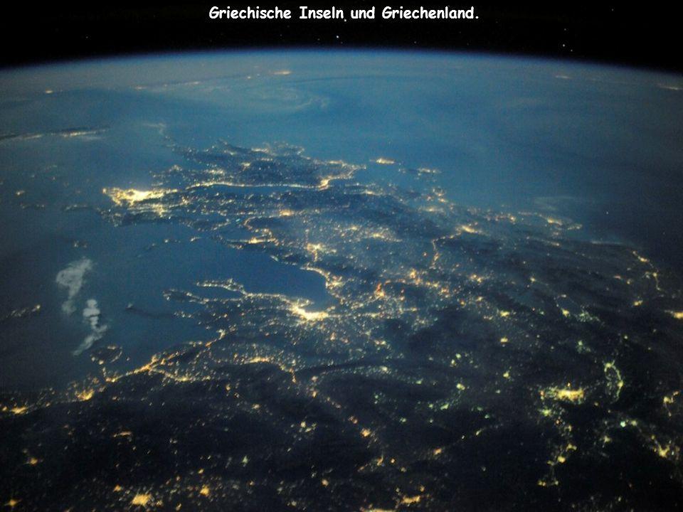 Griechische Inseln und Griechenland.