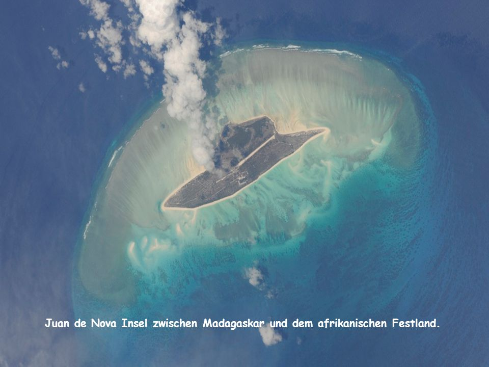 Juan de Nova Insel zwischen Madagaskar und dem afrikanischen Festland.