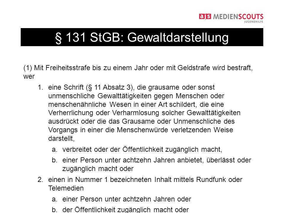 § 131 StGB: Gewaltdarstellung