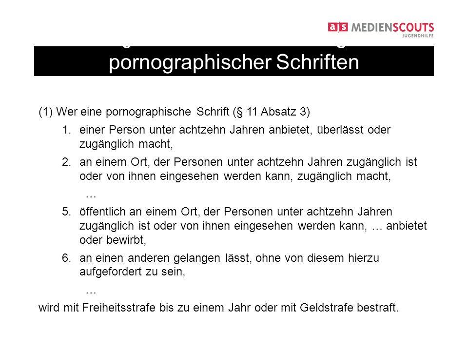§ 184 StGB: Verbreitung pornographischer Schriften