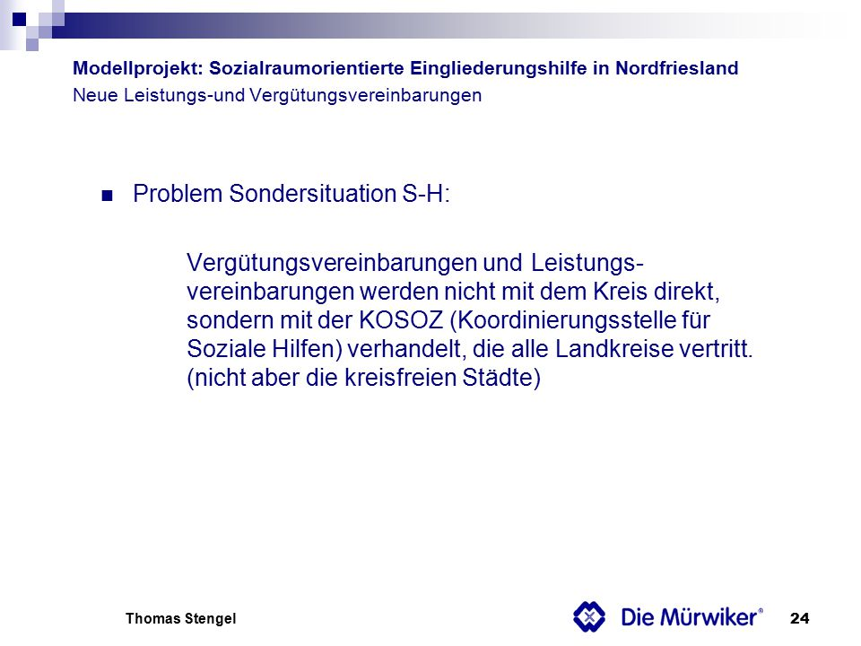 Problem Sondersituation S-H:
