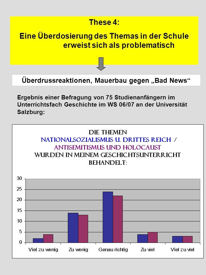 """Überdrussreaktionen, Mauerbau gegen """"Bad News"""