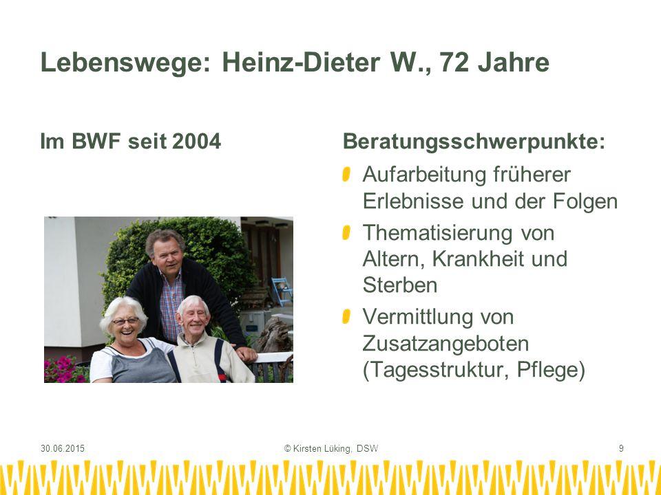 Lebenswege: Heinz-Dieter W., 72 Jahre