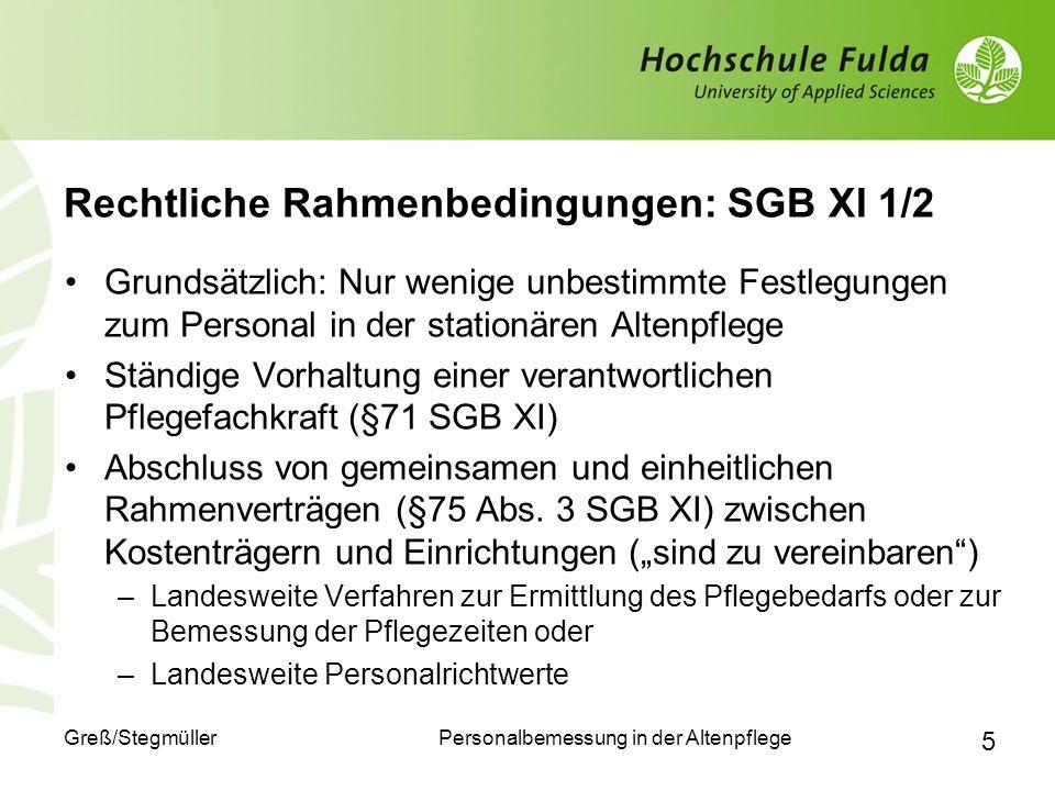 Rechtliche Rahmenbedingungen: SGB XI 1/2