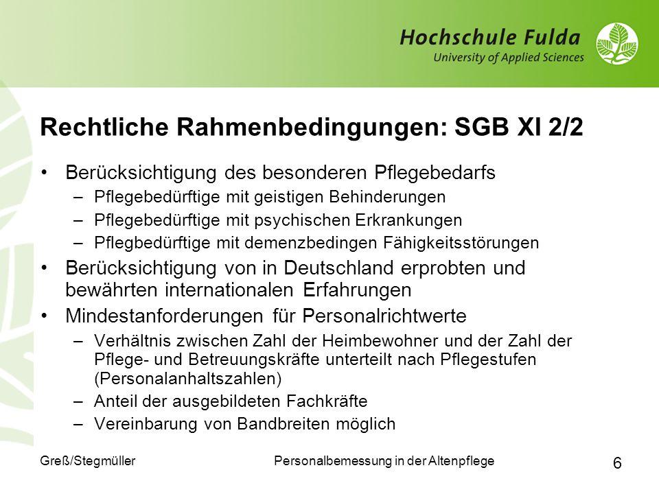 Rechtliche Rahmenbedingungen: SGB XI 2/2