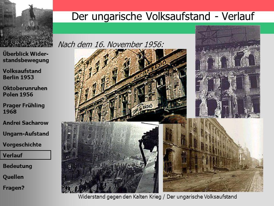 Der ungarische Volksaufstand - Verlauf