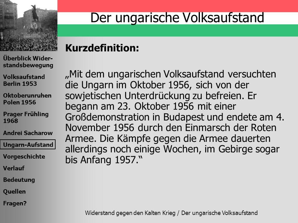 Der ungarische Volksaufstand