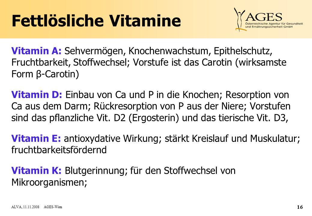Fettlösliche Vitamine