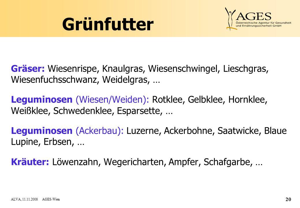 Grünfutter Gräser: Wiesenrispe, Knaulgras, Wiesenschwingel, Lieschgras, Wiesenfuchsschwanz, Weidelgras, …
