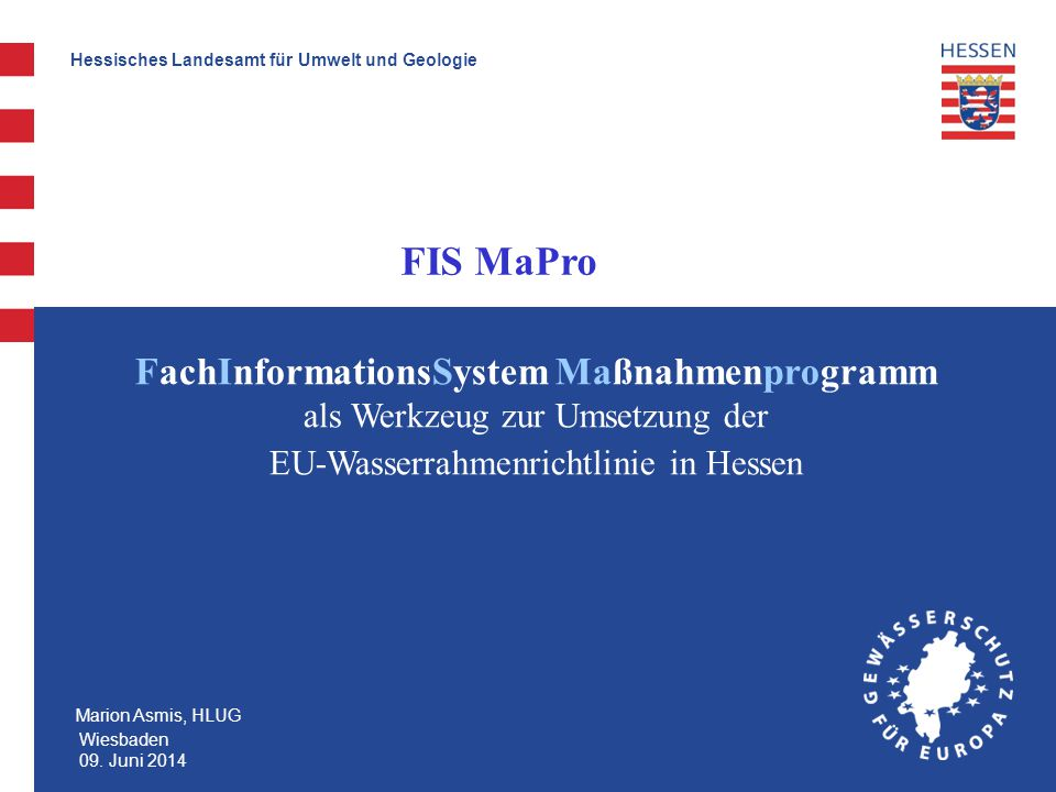 EU-Wasserrahmenrichtlinie in Hessen