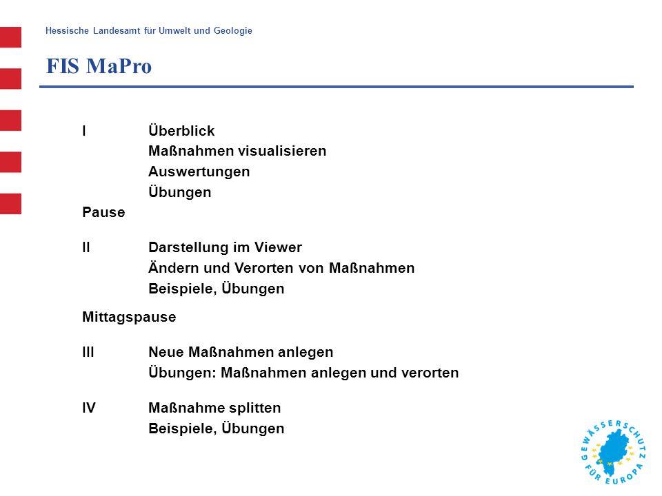 FIS MaPro I Überblick Maßnahmen visualisieren Auswertungen Übungen
