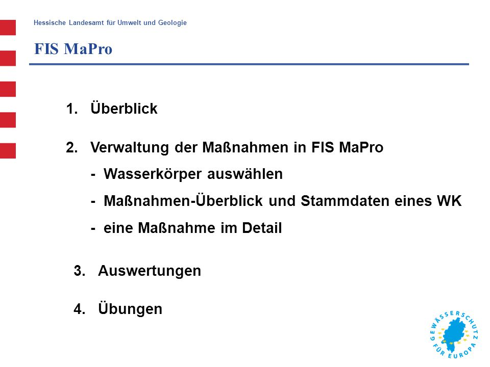 FIS MaPro Überblick.