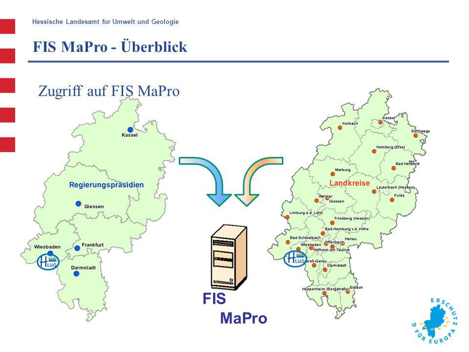 FIS MaPro - Überblick Zugriff auf FIS MaPro FIS MaPro
