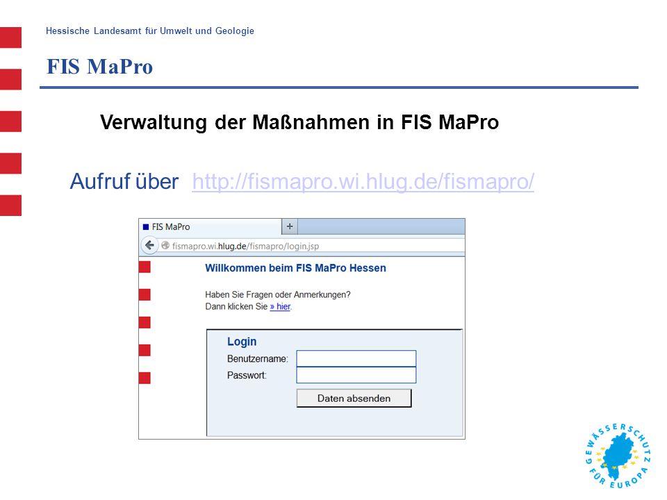 Aufruf über http://fismapro.wi.hlug.de/fismapro/