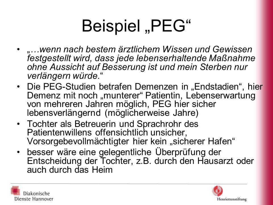 """Beispiel """"PEG"""