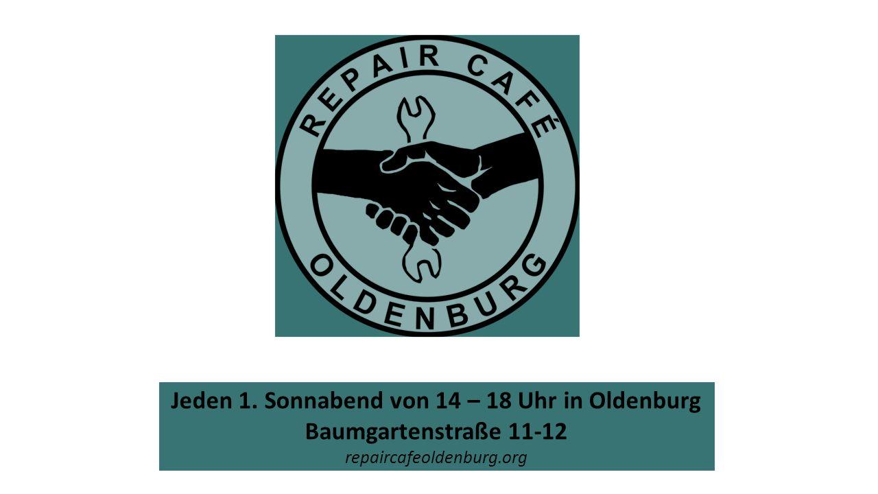 Jeden 1. Sonnabend von 14 – 18 Uhr in Oldenburg Baumgartenstraße 11-12