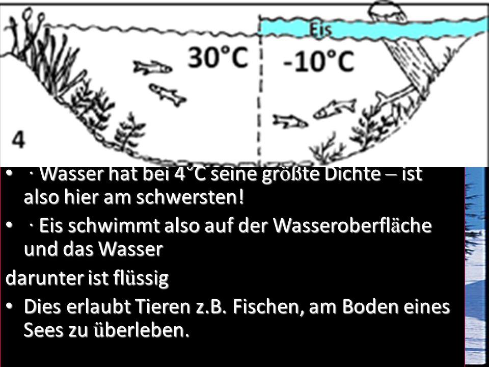Gefrorenes Wasser · Wasser gefriert bei 0ºC.
