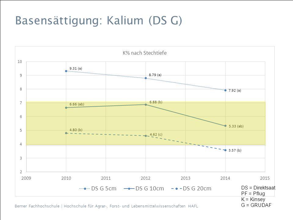Basensättigung: Kalium (DS G)