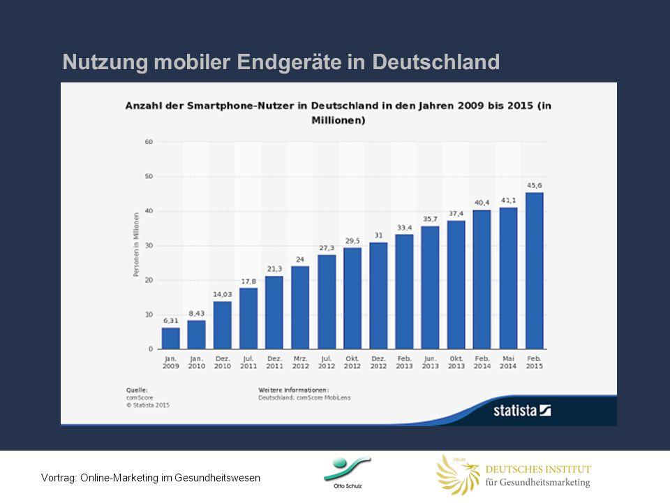 Nutzung mobiler Endgeräte in Deutschland