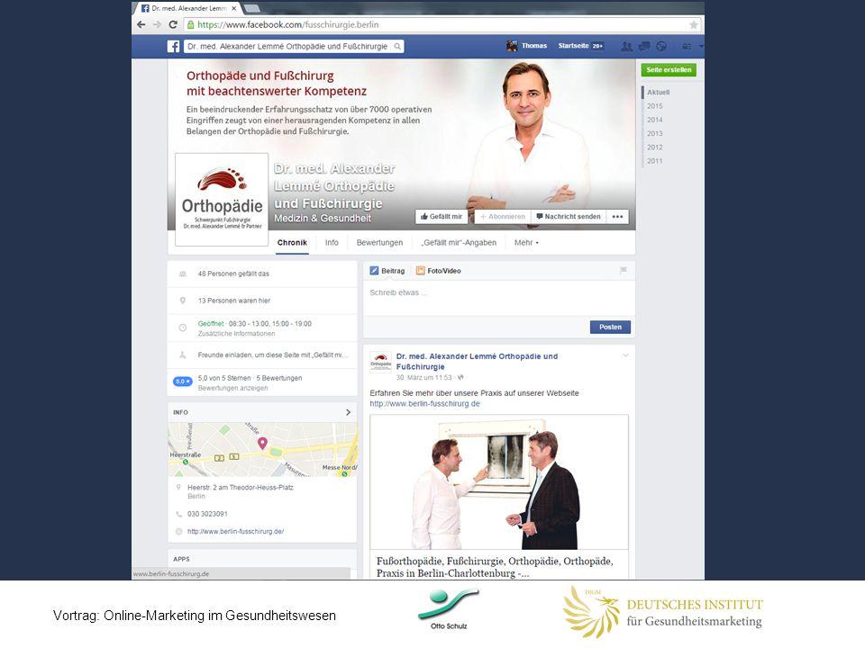 Vortrag: Online-Marketing im Gesundheitswesen