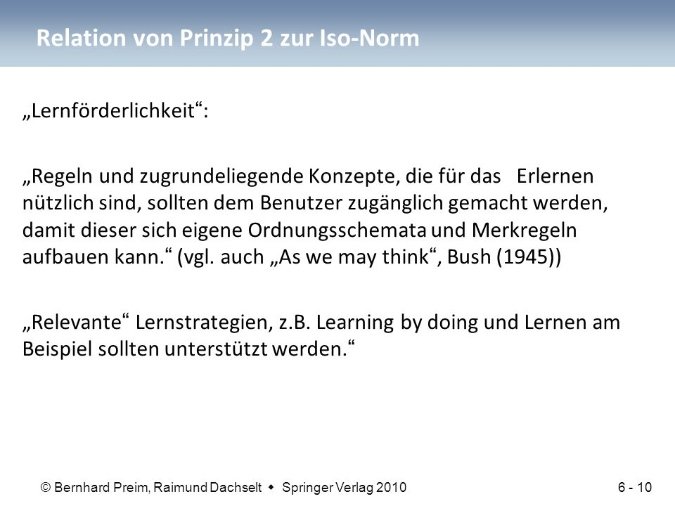 Relation von Prinzip 2 zur Iso-Norm