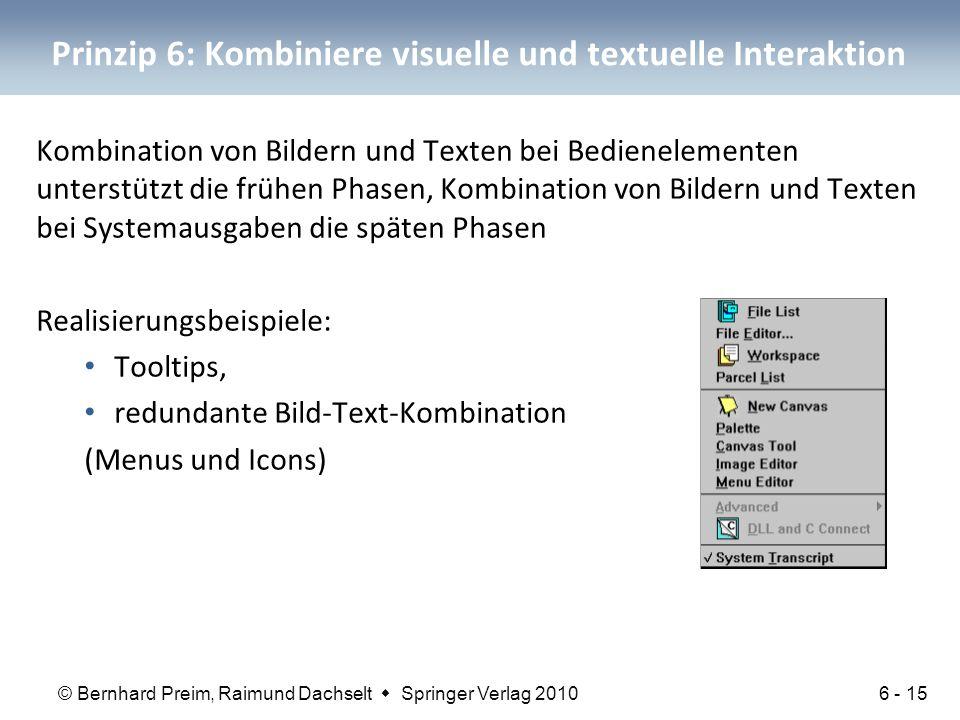 Prinzip 6: Kombiniere visuelle und textuelle Interaktion