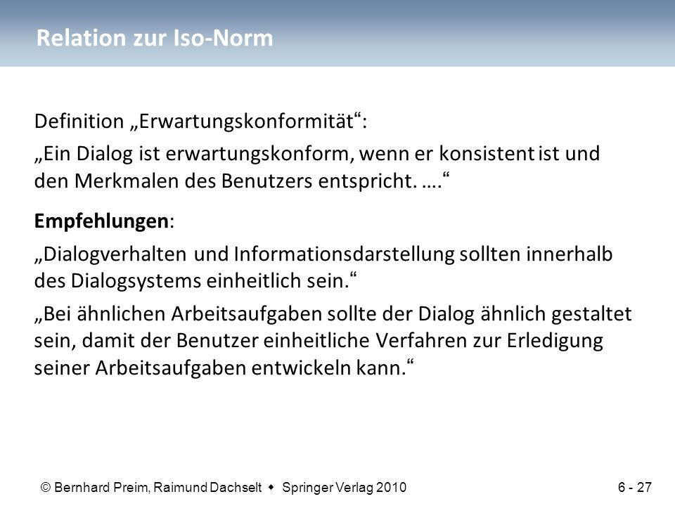 "Relation zur Iso-Norm Definition ""Erwartungskonformität :"