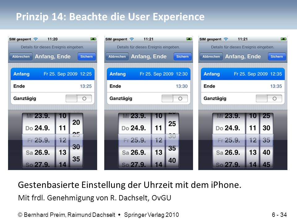 Prinzip 14: Beachte die User Experience