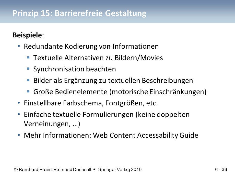 Prinzip 15: Barrierefreie Gestaltung