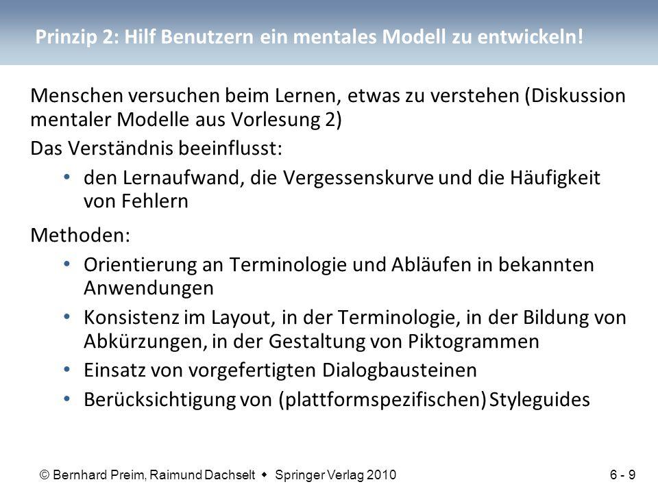 Prinzip 2: Hilf Benutzern ein mentales Modell zu entwickeln!