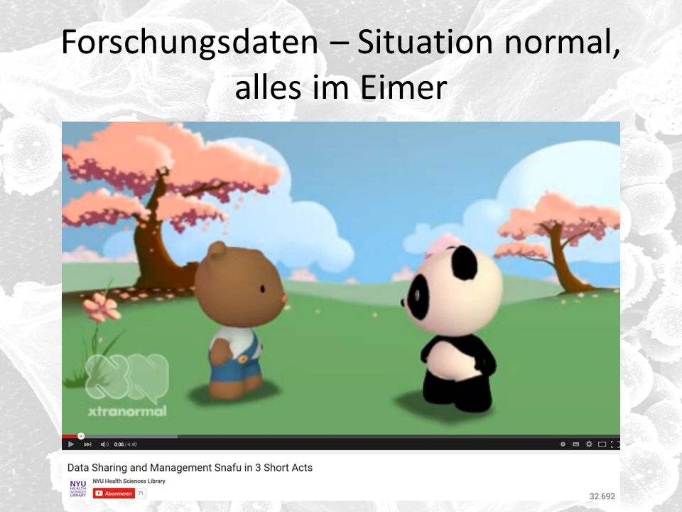 Forschungsdaten – Situation normal, alles im Eimer