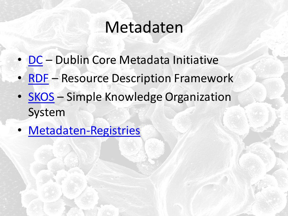 Metadaten DC – Dublin Core Metadata Initiative