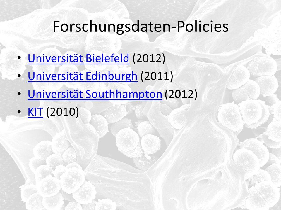 Forschungsdaten-Policies