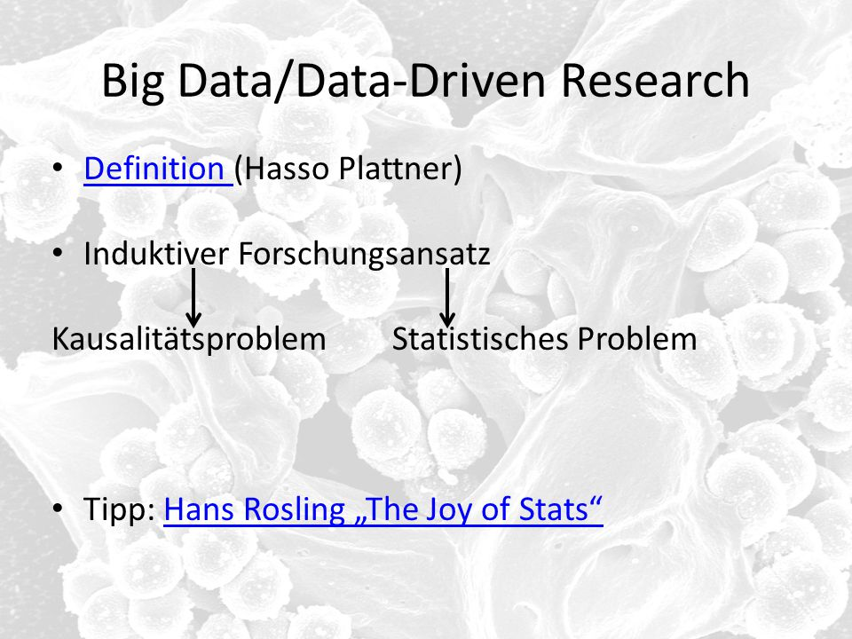 Big Data/Data-Driven Research