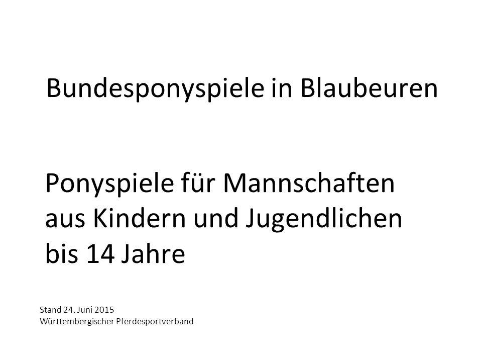 Bundesponyspiele in Blaubeuren