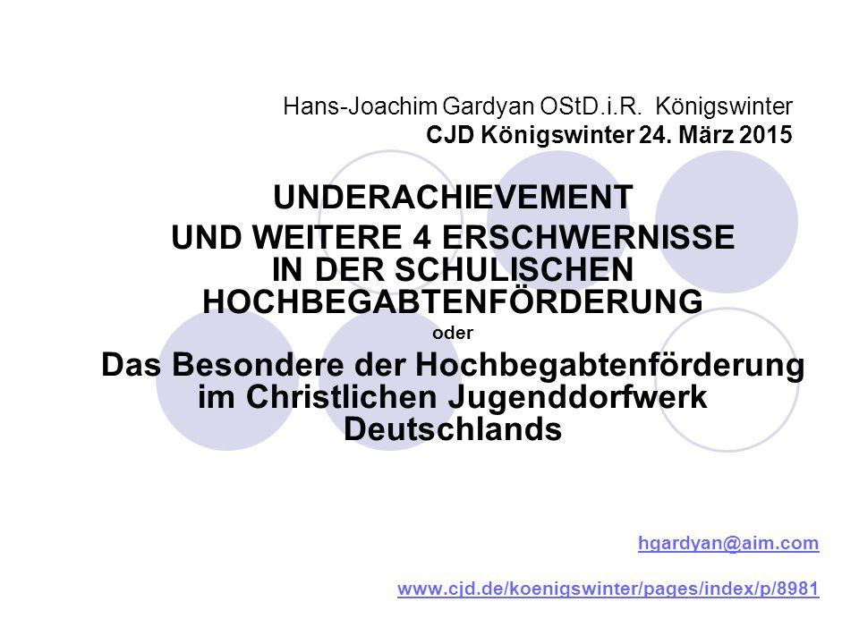 UND WEITERE 4 ERSCHWERNISSE IN DER SCHULISCHEN HOCHBEGABTENFÖRDERUNG