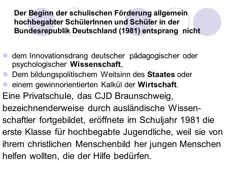 Eine Privatschule, das CJD Braunschweig,