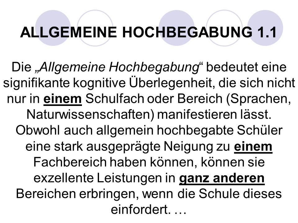 ALLGEMEINE HOCHBEGABUNG 1.1