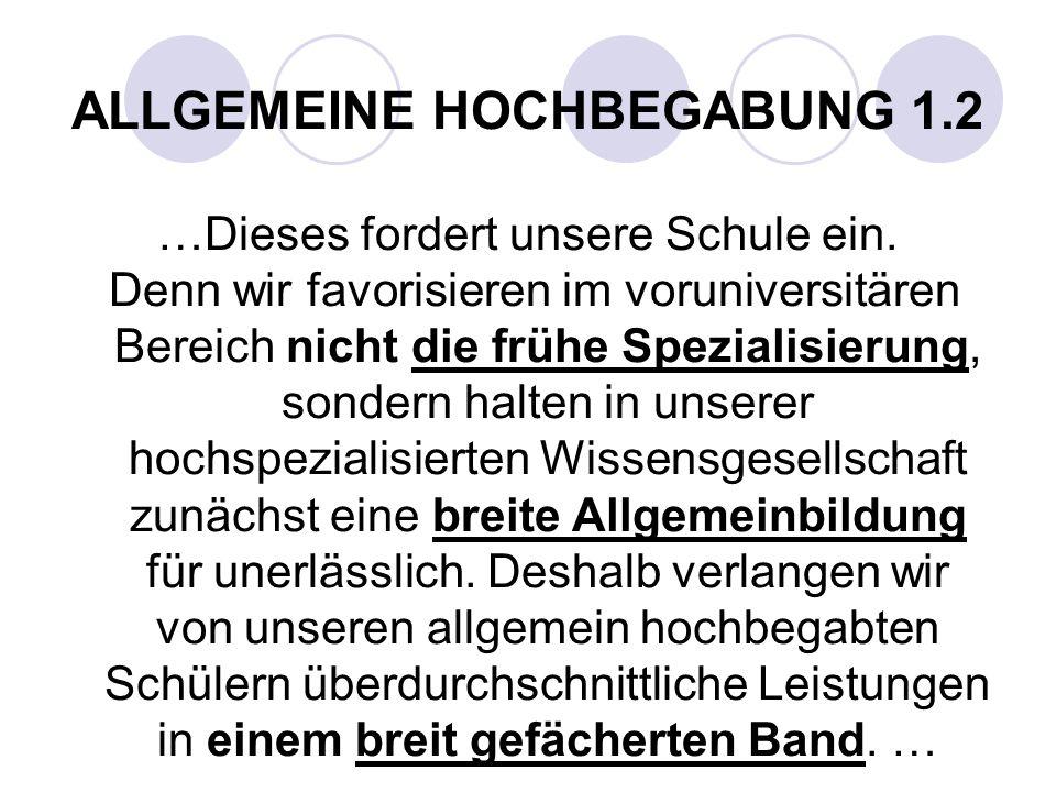 ALLGEMEINE HOCHBEGABUNG 1.2