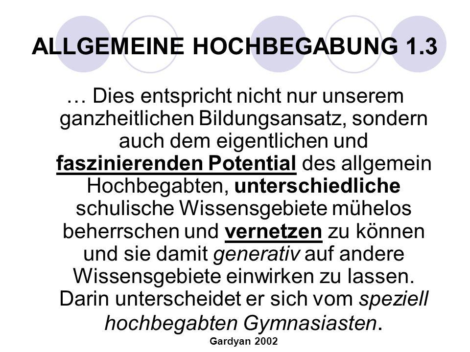 ALLGEMEINE HOCHBEGABUNG 1.3