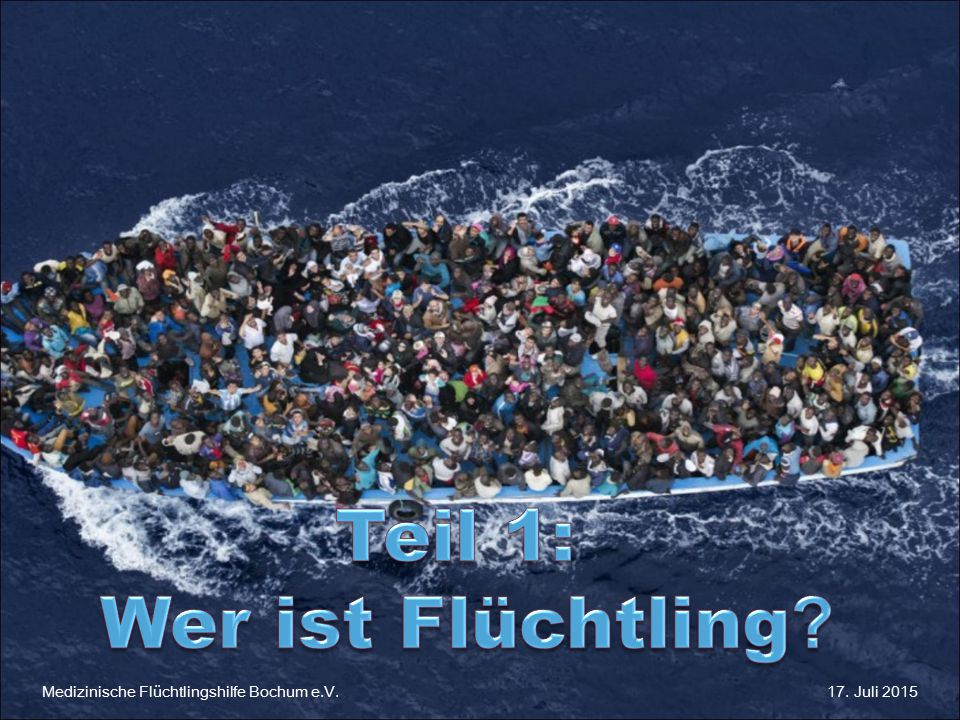 Teil 1: Wer ist Flüchtling Medizinische Flüchtlingshilfe Bochum e.V.
