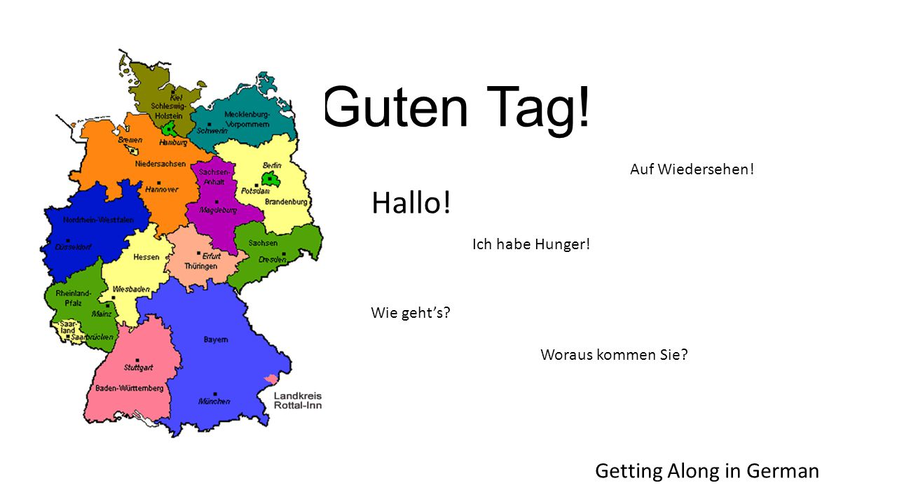 Getting Along in German