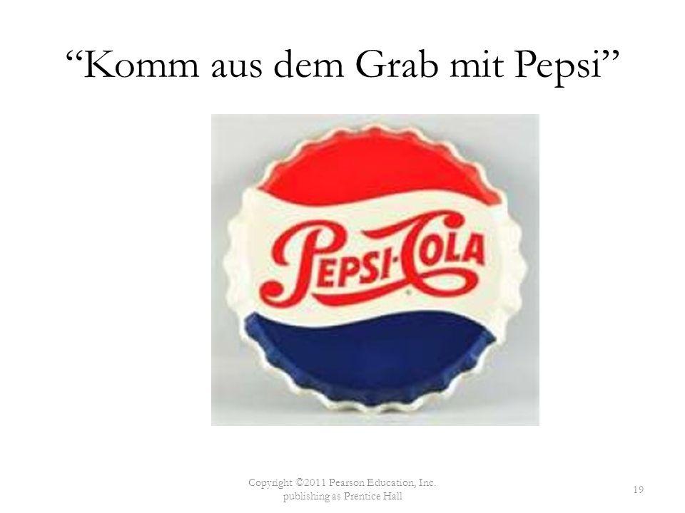 Komm aus dem Grab mit Pepsi