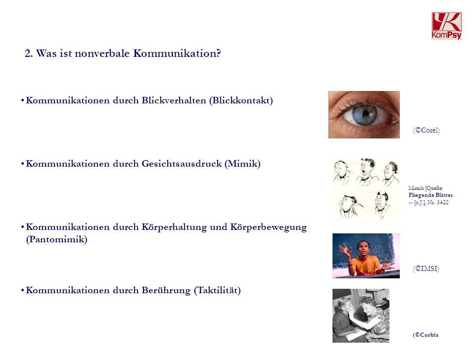 2. Was ist nonverbale Kommunikation